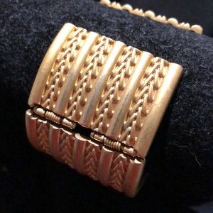 Kenneth Jay Lane Jewelry - Brushed gold plated cuff bracelet